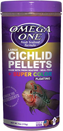 Omega One Cichlid Large Floating Pellets, 6 oz.