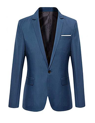 Abito Da Bottone Elegante Giacca Infermiera Skinny Maniche Blau Smoking Blazer Lunghe A Un Uomo Fit Huixin Slim Sposa 05qwf
