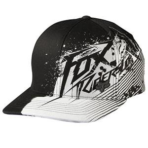 d8a4583057 Amazon.com  Fox Racing Fresh Kill Flexfit Hat  Black White  XS S ...