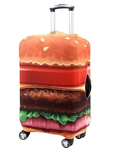 Washable Travel Luggage Cover Myosotis510 Funny Cartoon Suitcase Protector Fits 18-32 Inch Luggage M 23-26 Luggage , Coconut
