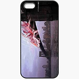 Protective Case Back Cover For iPhone 5 5S Case Bridge Water USA Black