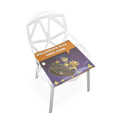 DERTYV Premium Comfort Memory Foam Seat Cushions,Halloween Cartoon Chair Pads for Truck Driver,Kitchen -
