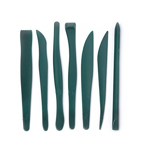 7 Pcs Set Plastic Sculpture Knife Modeling Wax Clay Craft Pottery Carving Tool