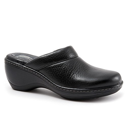 - Softwalk Womens Murietta Clogs & Mules Black Tumbled Leather, Size-8.5WW
