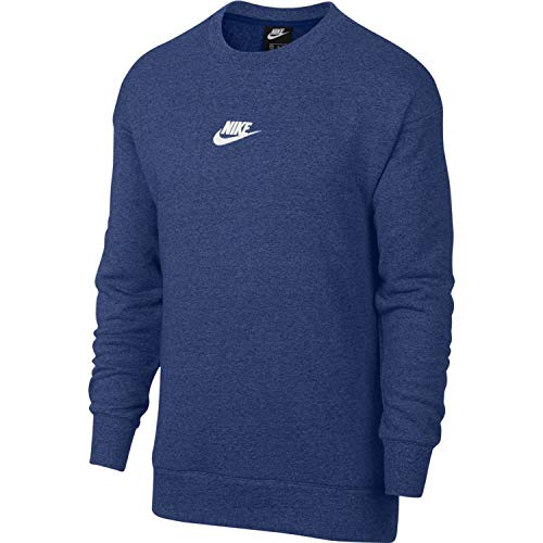 NIKE Mens Crew Neck Sweatshirt Blue Void/Sail 928427-478 Size X-Large (Pullover Terry Nike)