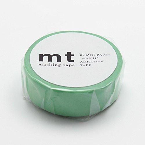 "MT Solids Washi Paper Masking Tape, 3/5"" x 33', Wakamidori, Verdant Green (MT01P190)"