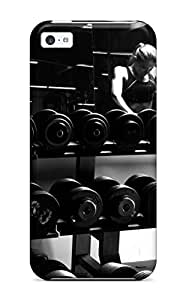 Fashion EiJnvAI1054CWlIM Case Cover For Iphone 5c(a Girl And More Weights In The Gym)