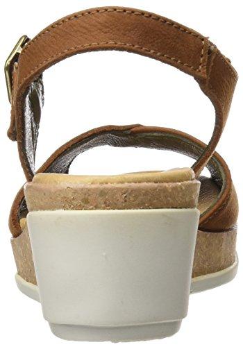 Pleasant N5000 Sandali Naturalista El Donna Wood Toe Leaves Open Marrone RqFvwAEw
