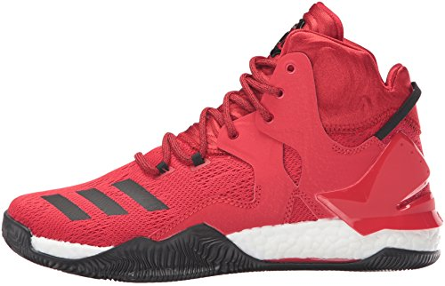 adidas Men's D Rose 7 Basketball Shoe, Scarlet/Black 1/White, 8.5 M US