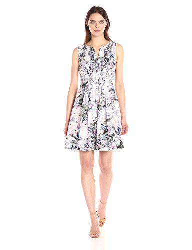 NYDJ Women's Lana Cotton Voile Dress, Martinique Palms Blue ()