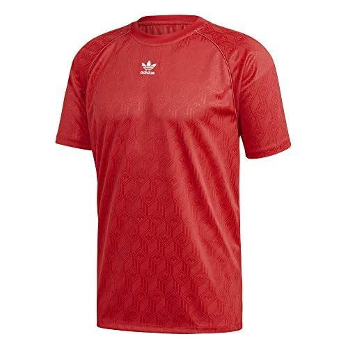 chollos oferta descuentos barato adidas Mono Jersey Pol T Shirt Hombre Lush Red White M