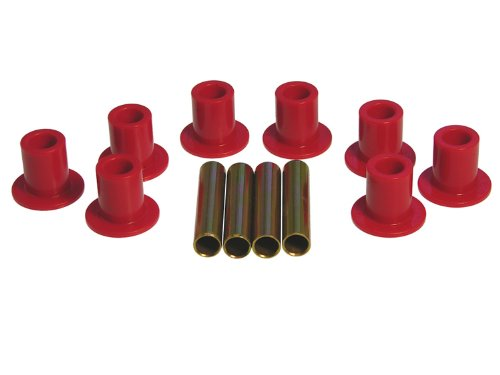 Polyurethane Dodge Front Bushings - Prothane 4-1005 Red Spring Eye Bushing Kit with 1