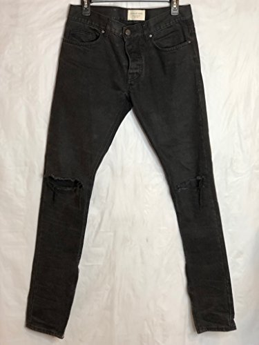 Fear of God Distressed Black Denim by Upcycled Streetwear