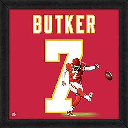 timeless design 2898f 5b7c4 Amazon.com: Harrison Butker Kansas City Chiefs UniFrame ...