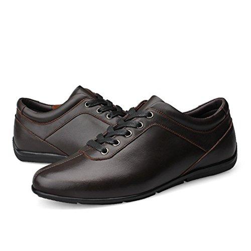 Minishion Mens Mens Shoes Sole Brown Minishion Rubber Daily Classic Walking r1rvpq