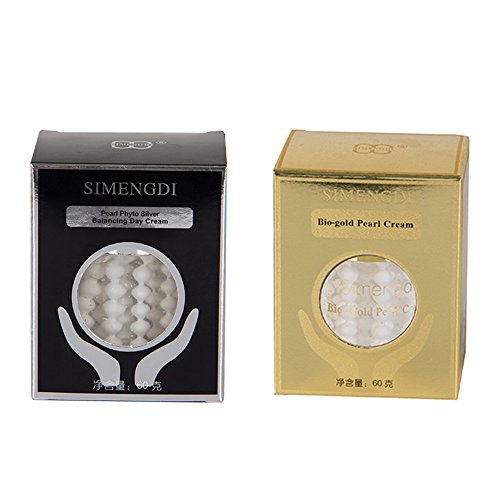 Lot Simengdi Bio-gold Pearl Cream + Simengdi Phyto - Silver Balancing Day Cream Anti-ageing Wrinkle Pearl Cream (Pearl Cream From China)
