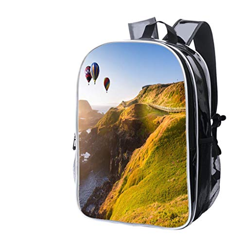 High-end Custom Laptop Backpack-Leisure Travel Backpack Hot air Balloon Flying Over Philip lsland Victoria Australia Water Resistant-Anti Theft - Durable -Ultralight- -