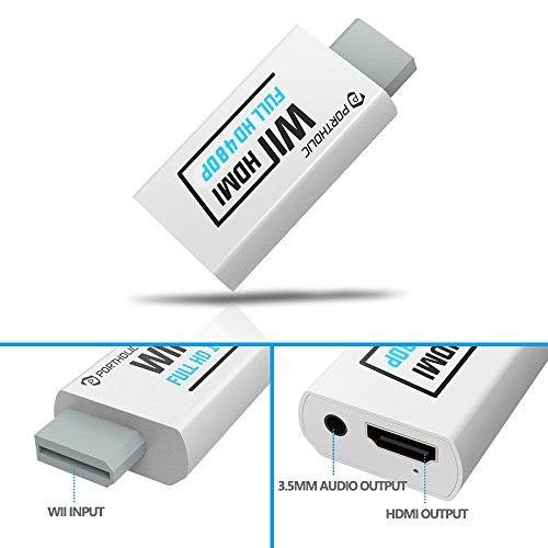 wii to hdmi converter wii2hdmi 720p 1080p device compatible portholic full hd wii hdmi adapter. Black Bedroom Furniture Sets. Home Design Ideas