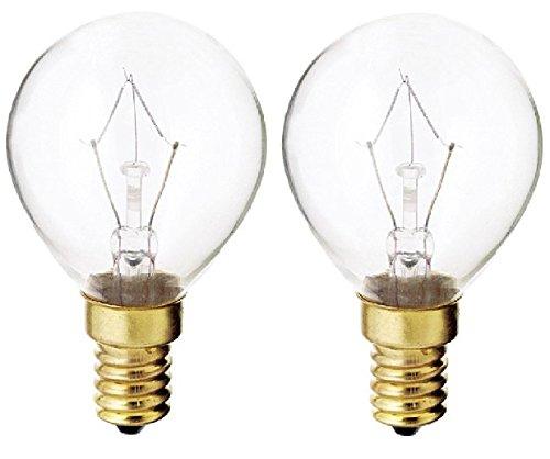 (130V E14 Euro Base 40-Watt G14 Light Bulb, Clear (Set of 2))