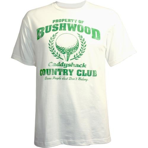 Caddyshack Property of Bushwood Country Club Men's T-Shirt, White, Small