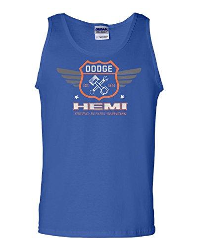 Tee Hunt Dodge Hemi Garage Tank Top American Classic Muscle Sports Cars Sleeveless Blue 2XL