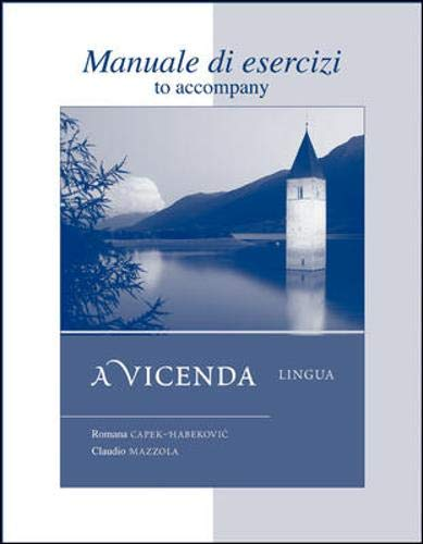 Workbook/Laboratory Manual Manuale di esercizi to accompany A Vicenda Lingua