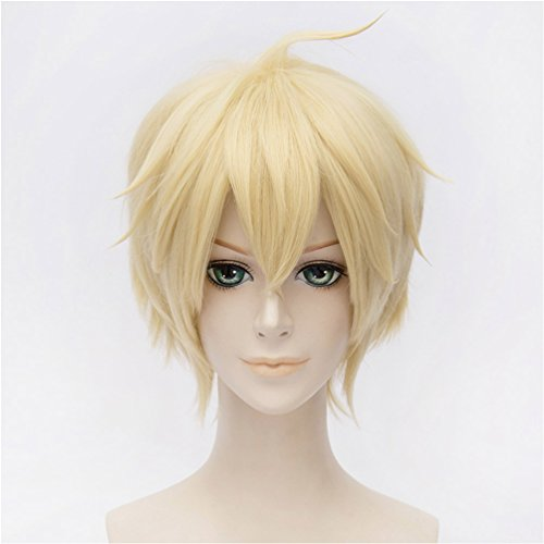 Flovex Short Straight Anime Cosplay Wigs Natural Sexy Costume Party Daily Hair (Light Blonde) ()