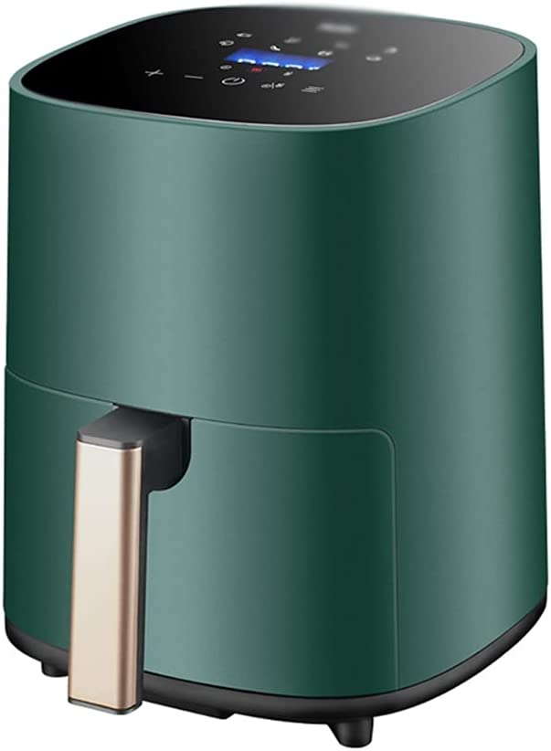 Air Fryers Household Large-Capacity 3.2L Air Oven Integrated Multifunctional Automatic Electric Fryer with LED Display (Color : Green, Size : 232529cm)