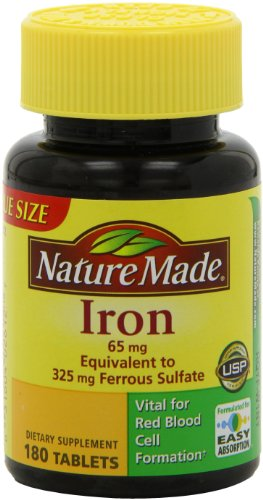 Nature Made Iron 65mg, 180 Tablets (Iron Tablets)
