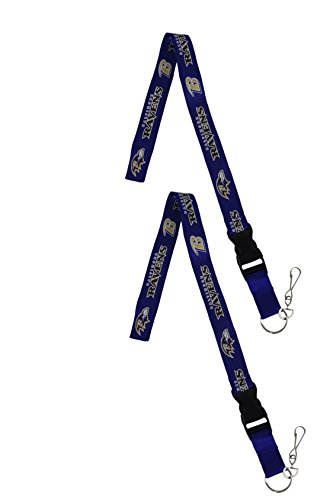 (Official National Football League Fan Shop Authentic 2-pack NFL Lanyard/keychain Office Badge Holder (Baltimore Ravens))