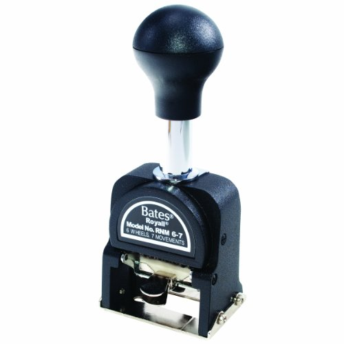 Wholesale Bates Royall Economy Numbering Machine, 6 Wheels, Type Size E (9806450) for sale