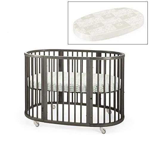 (Stokke Sleepi Crib and Matress Bundle, Hazy Grey)