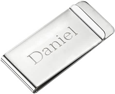 Visol Personalized Stainless Steel Money Clip with Custom Engraving