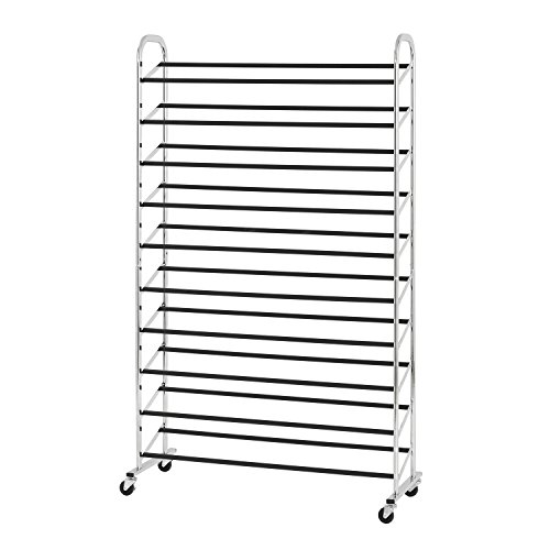 Heavy Duty Pallet Racks (Sandusky Lee CSR361560 50 Pair Rolling Shoe Rack, Chrome)