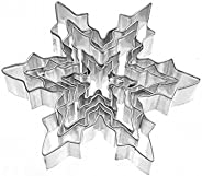 Ergonflow 5Pcs Snowflake Ice Crystal Cookie Cutter