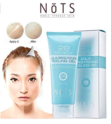 Nots Korean Cosmetics Natural Exfoliating Peeling Gel with Cellulose and Papain, Collagen, skin smoothing, moisturizing, rejuvenating restoration facial for sensitive skin