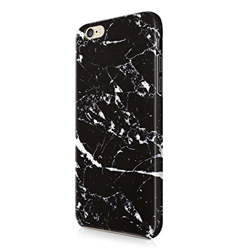uCOLOR iPhone 6s Case,iPhone 6 Case Black Marble Ultra Slim Hard Shell Soft TPU Dual Layer Protective Case for iPhone 6S/6