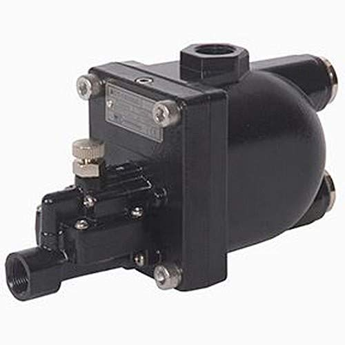 1//2 FPT Inlet 350 Horse Power 1//2 FPT Inlet 3//8 FPT Outlet Midwest Control ACT-1500LC Zero Air Loss Drain for Oil Less Compressors 140 Degree F 11.6-43.5 psi Pressure Range 5 mm Orifice Size 3//8 FPT Outlet