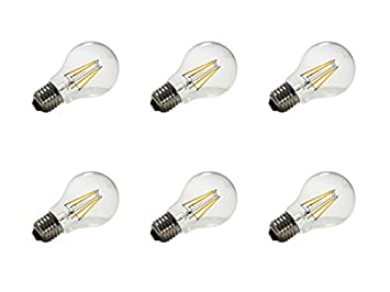 Electraline 92281 Electraline 92281 Bombillas LED Filamento bajo Consumo 6 W=70 W luz cálida Casquillo Grande E27, 6 Piezas: Amazon.es: Bricolaje y ...