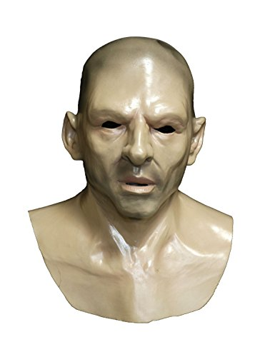 Realistic Bald Man Latex Mask Novelty Human Strong Male Face Mask Disguise Costume Rubber Full Head Mask Cosplay Fancy Dress ()