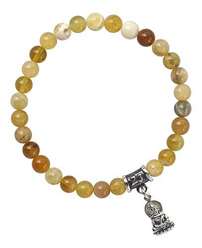 BE PASSIONATE - Yellow Peruvian Opal Healing Crystal Stretch Bracelet (BBOPY6SR) ()