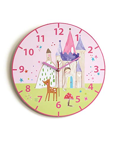 (Arthouse, Kids Woodland Fairies Pink Wall Clock, Children's Décor)