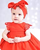 Christmas Baby Girls Tutu Dress Red Lace Romper