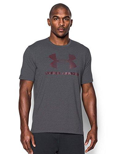 Under Armour Men's Gameday Sportstyle Logo T-Shirt, Carbon Heather (090), Medium