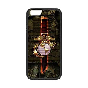Generic Custom Extraordinary Best Design USMC(US Marine Corps) Symbol Series Plastic and TPU (Laser Technology) Cover case for the iPhone6