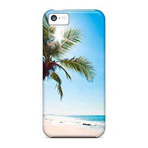 HAO46720GXGr Cases Covers Protector For Iphone 5c Palm Trees On Beach Cases