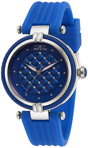 Invicta Women's Bolt Stainless Steel Quartz Watch with Rubber Strap, Blue, 18 (Model: 28942)