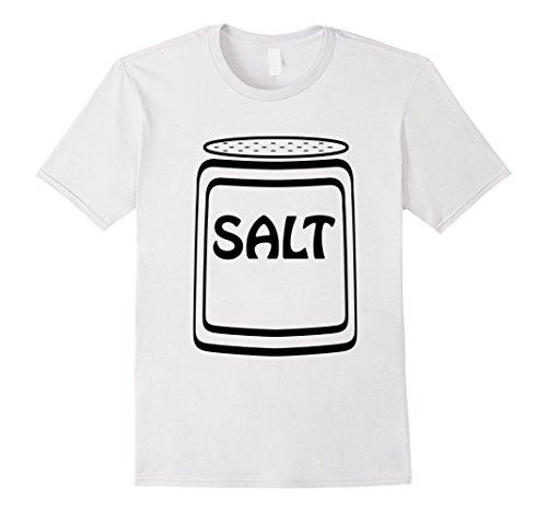 Salt Shaker Costume Make (Mens Salt Shaker Halloween Costume T-Shirt for Couples Medium White)