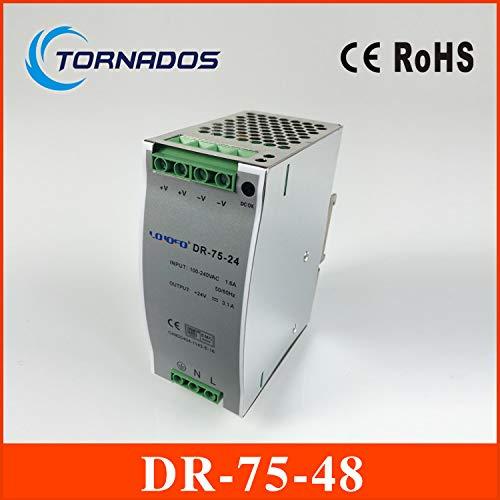 Two Years Warranty 48v 1.6a din Rail Power Supply 75w 48V DIN Rail Power Supply Utini DR-75-48