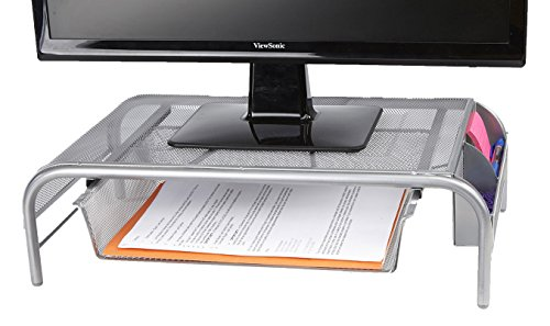 Mind Reader Metal Mesh Monitor Stand, ()